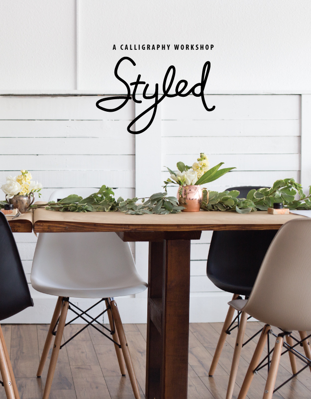 styled calligraphy workshop