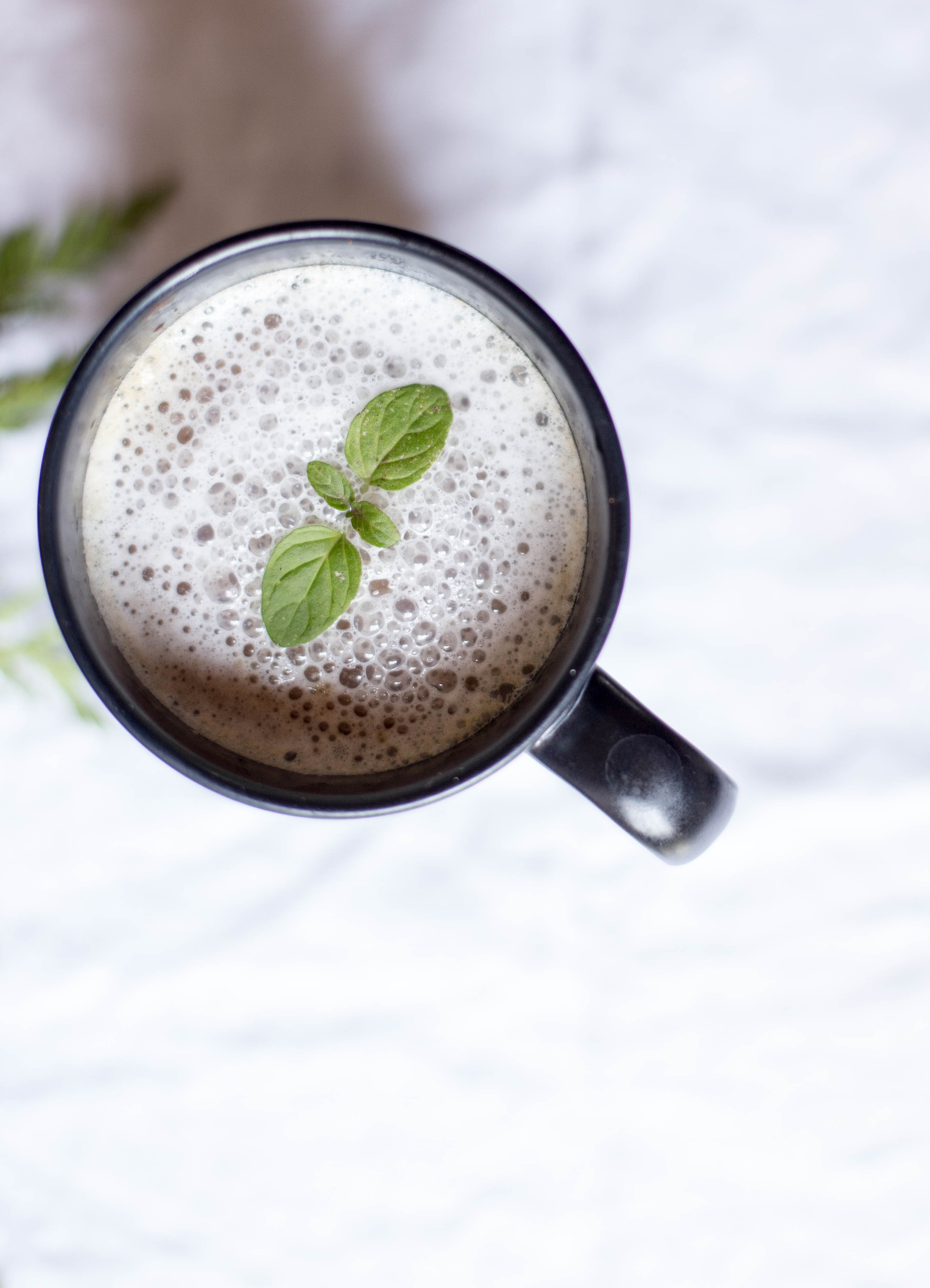clean eating peppermint mocha