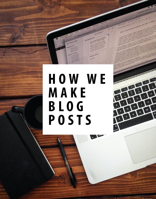 how we make blog posts