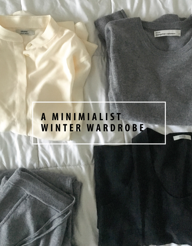minimal winter wardrobe