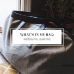 What's In My Bag: Melbourne, Australia
