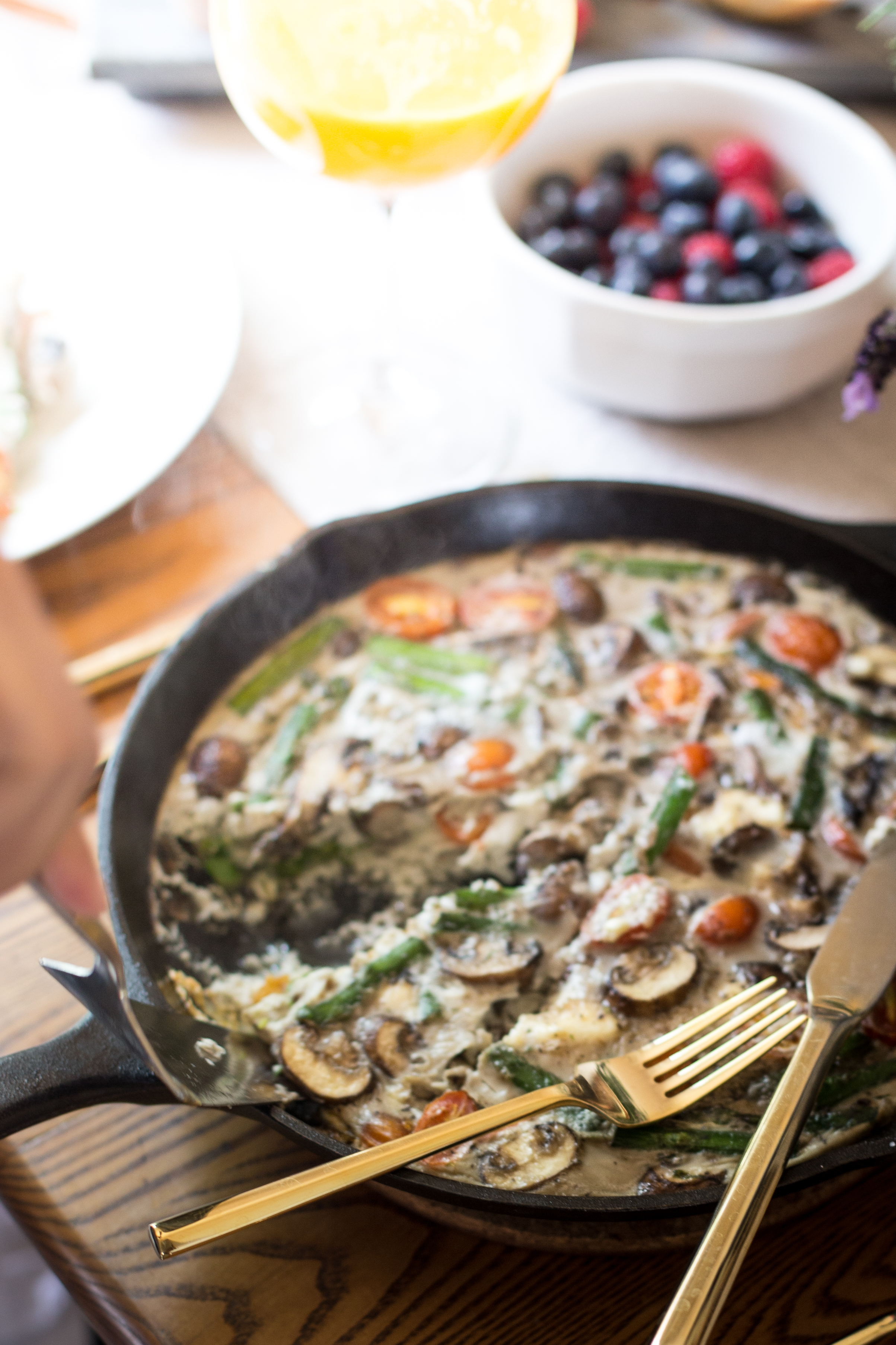 crustless spring vegetable frittata
