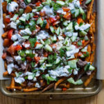 Loaded Mediterranean Sweet Potato Fries