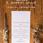 DIY Floral Bundles + Printable Poem
