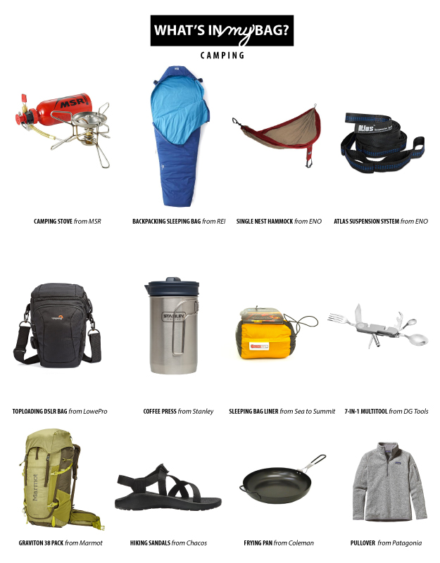 whats in my bag camping 2