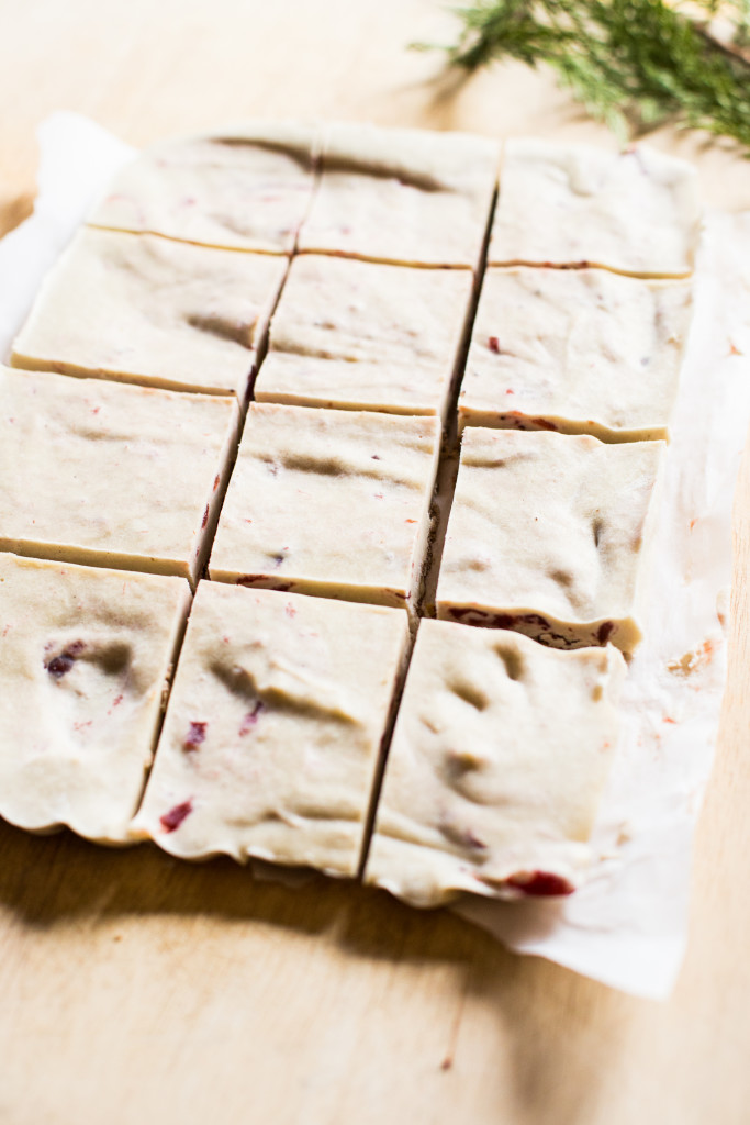 vegan vanilla cranberry bars