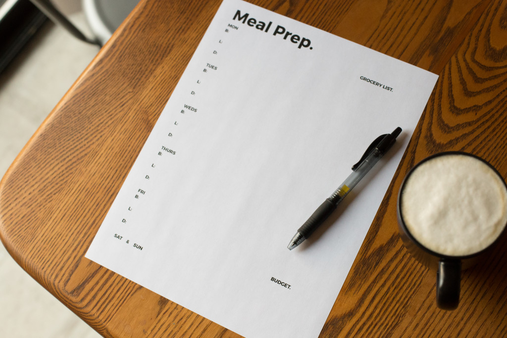 meal prep modern printable
