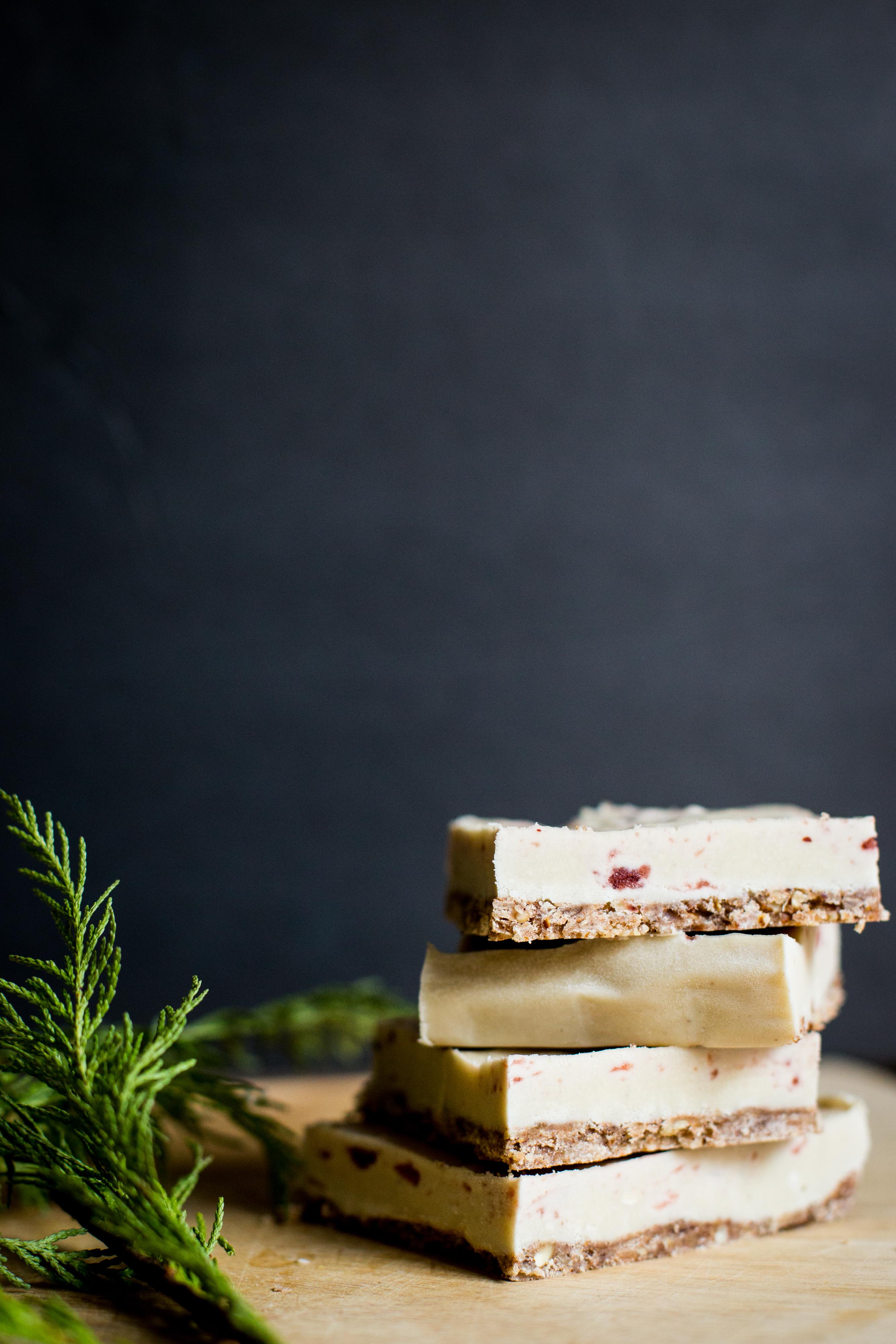 vegan vanilla cranberry bars