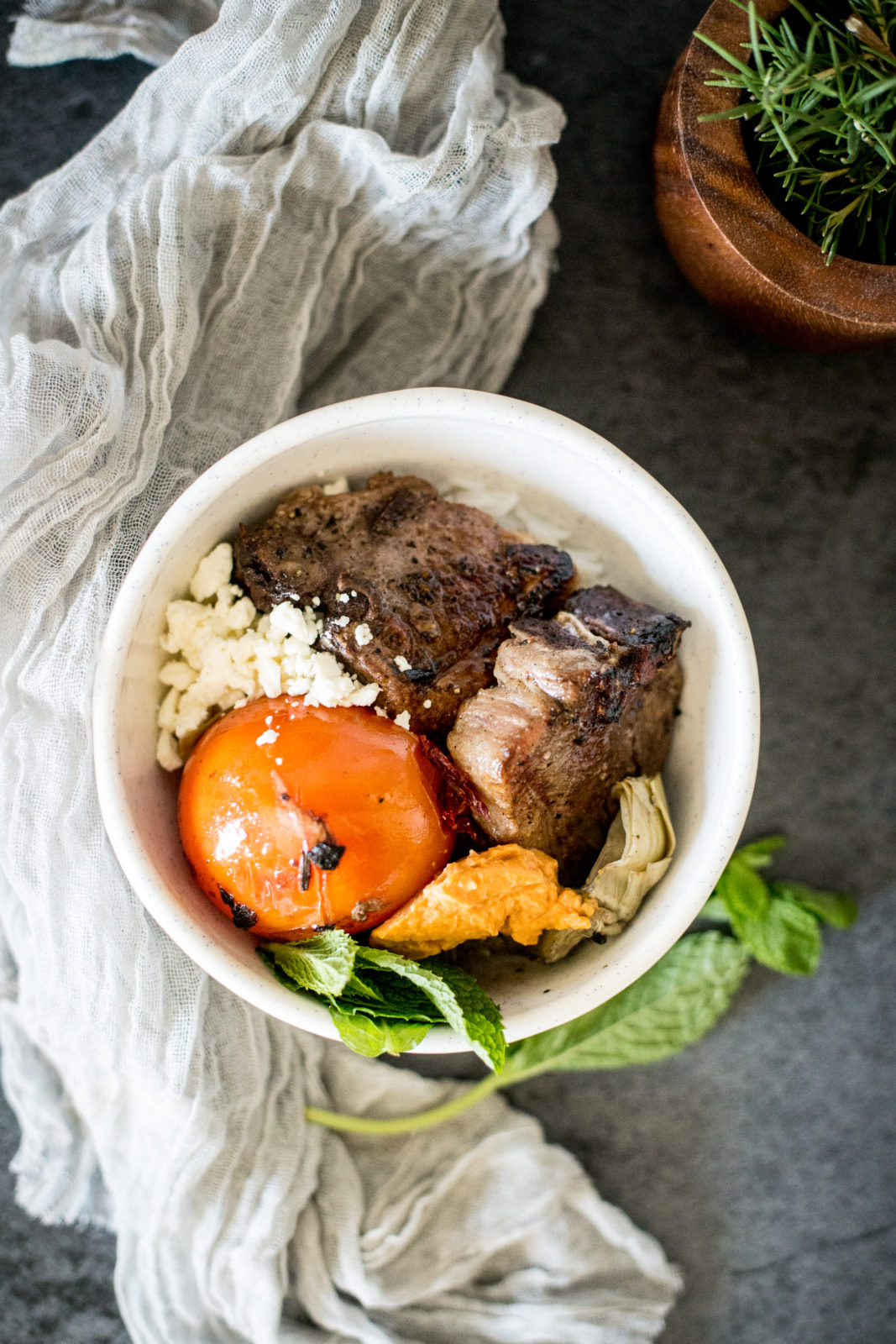 Braised Lamb Chop Bowls