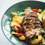 Peach, Grilled Chicken, and Tomato Salad