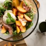 Peach, Prosciutto, and Burrata Salad