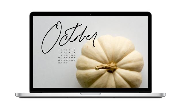October Digital Downloads Calendar