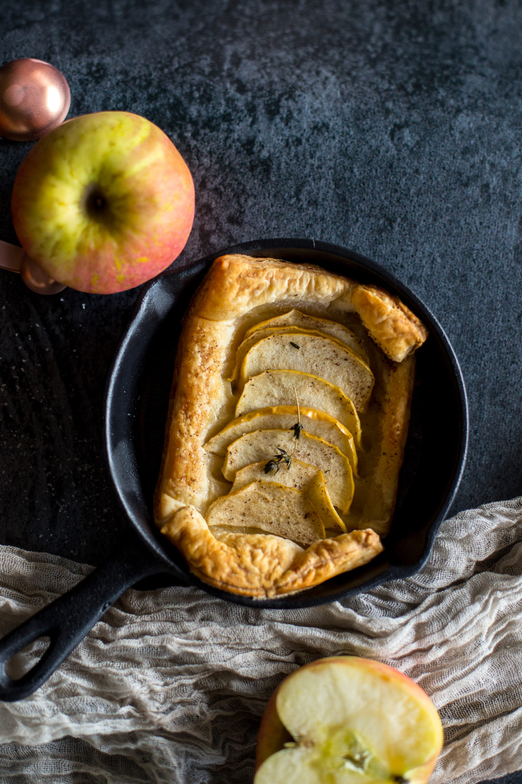 apple tartlet with thyme brown butter