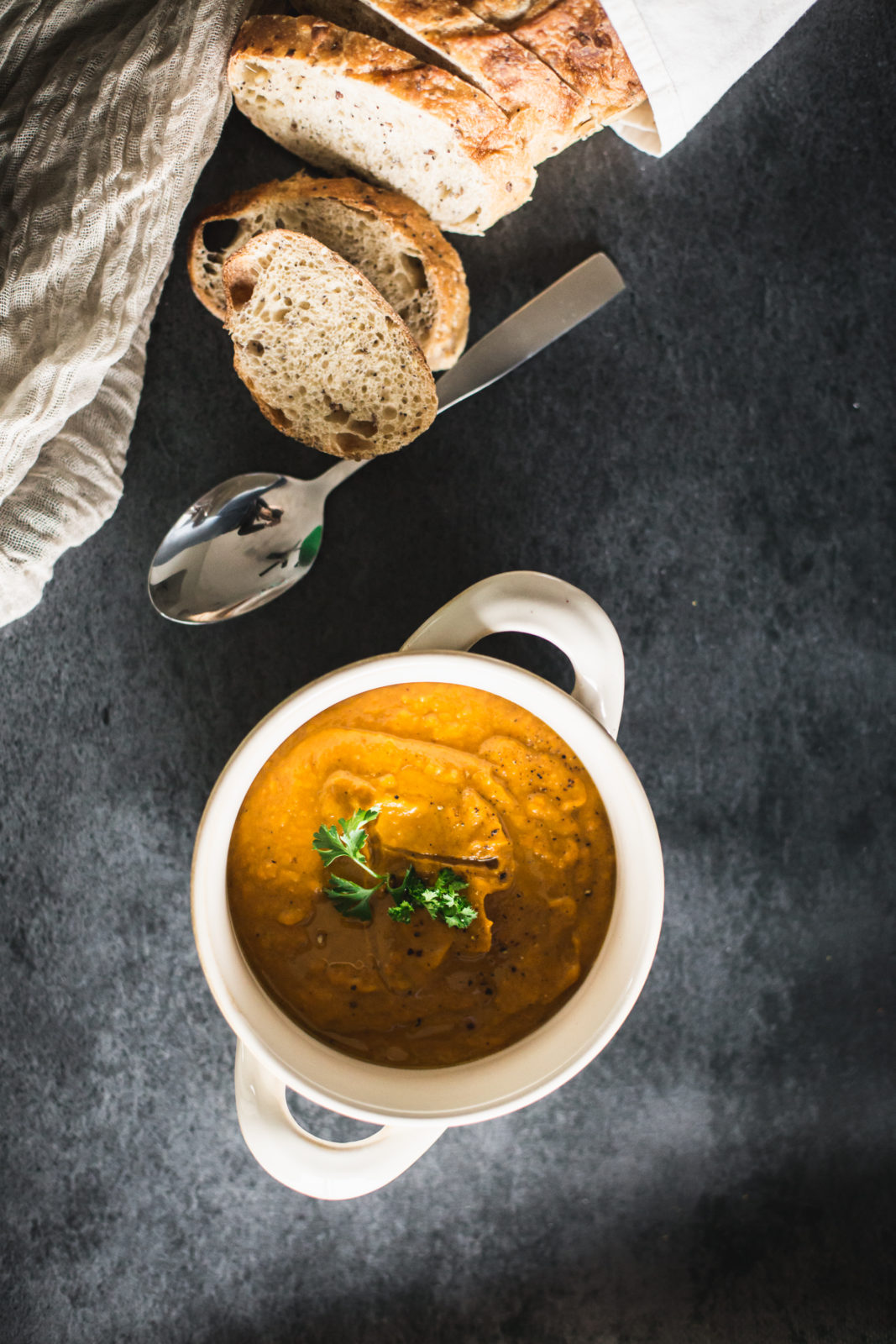 roasted vegetable curry soup