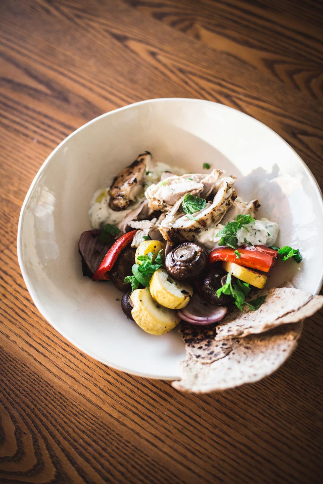 grilled mediterranean bowls